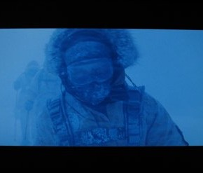 In the Winter Wasteland, your white balance is overpowered. Especially when taking pictures of Dennis Quaid.