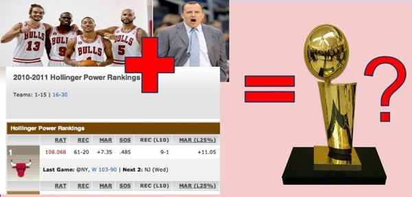 The equation that could lead the 2011 Bulls to a championship.