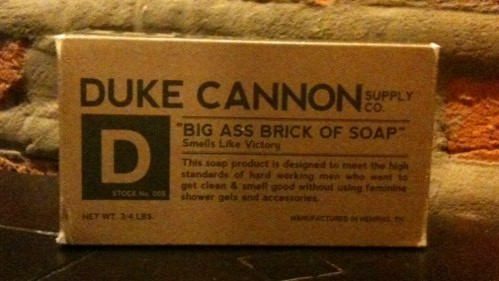Duke Cannon soap box