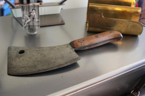 100 year old vintage butcher knife